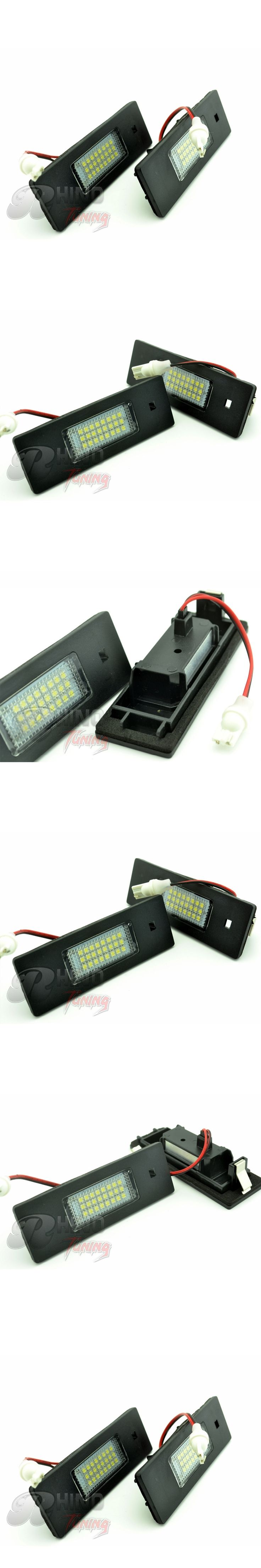 Rhino Tuning 2PC LED Car License Number Plate Light For E81 E87 E85 E86 Z4 E63 E64(M6) R55  Car License Plate Light 125