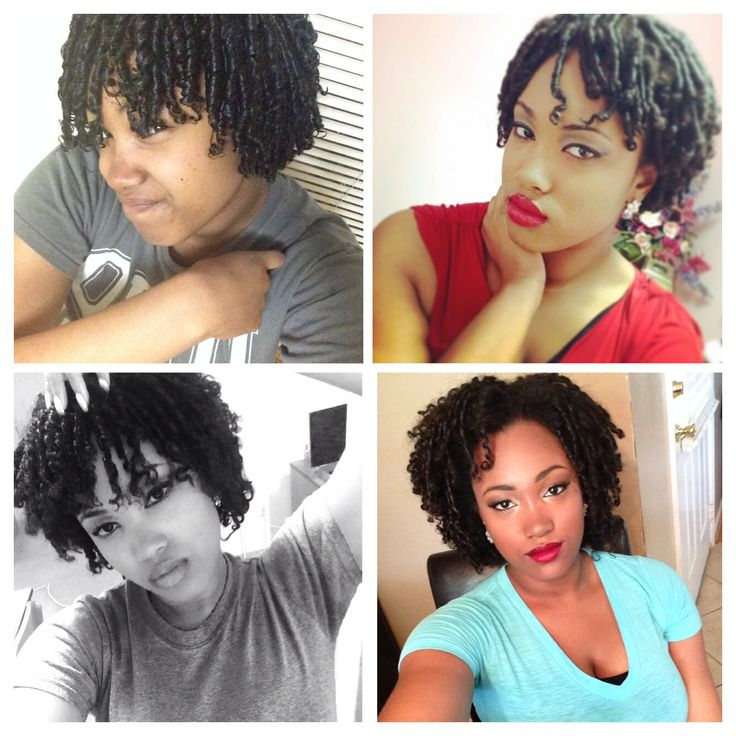 #fingercoiling #DIY #naturalhaircommunity #curlsfordays (: top left: first night still wet top right: next day, after it dried before separation bottom left: after separation bottom right: 1 week and a half later