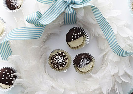 These Choc Cream Kisses are perfect for an after dinner sweet treat on Christmas Day.