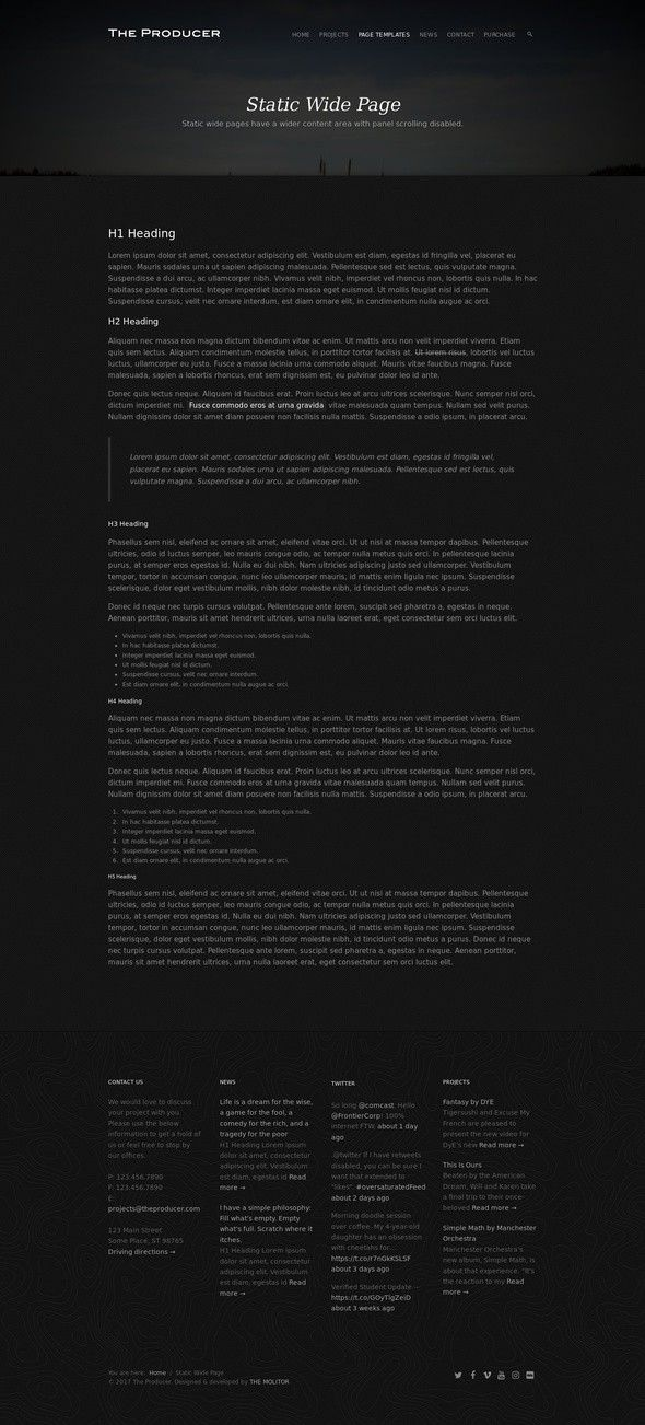 The Producer: Responsive Film Studio WP Theme dark, film