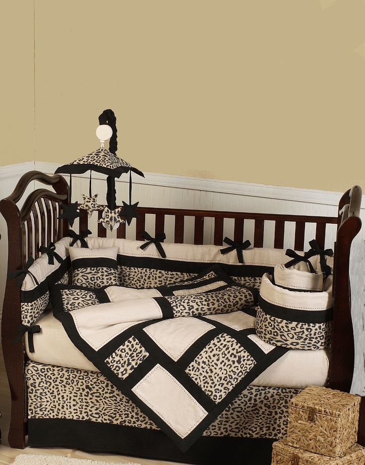 Leopard Baby Bedding 9pc Cheetah Print Crib Bedding and Nursery Décor