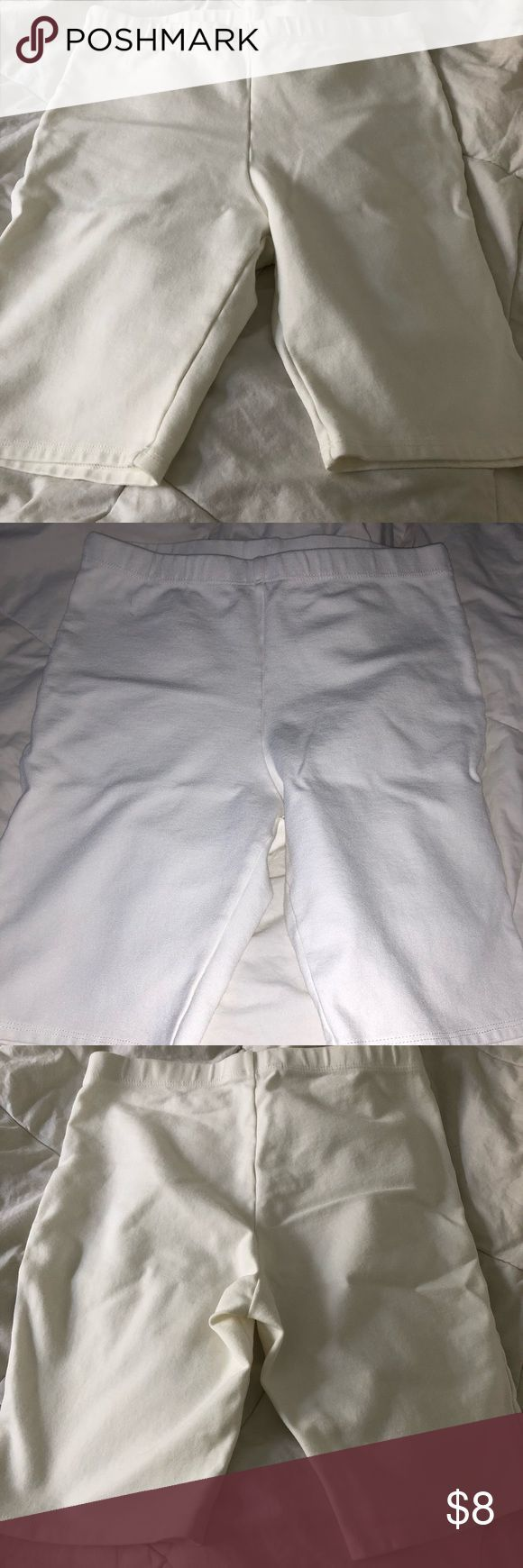 FOREVER 21 White Biker Shorts These are biker shorts that are super thick and no   – Biker shorts
