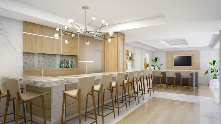 Residential lobbies by Leighton Design Group.