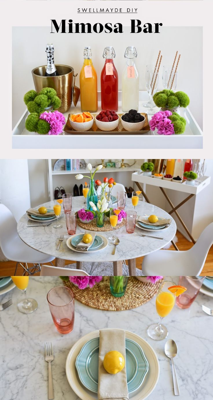 Warm weather calls for brunch so why not make everyday a brunch party at home? @swellmayde hosts the perfect springtime brunch for her friends by setting up a colorful table and mimosa bar. At your spring party DIY mimosa's with different color juices in glass bottles, champagne flutes and pastel colored plates! Grab wonderful discounts up to 50% Off at Target using Coupons and Promo Codes.
