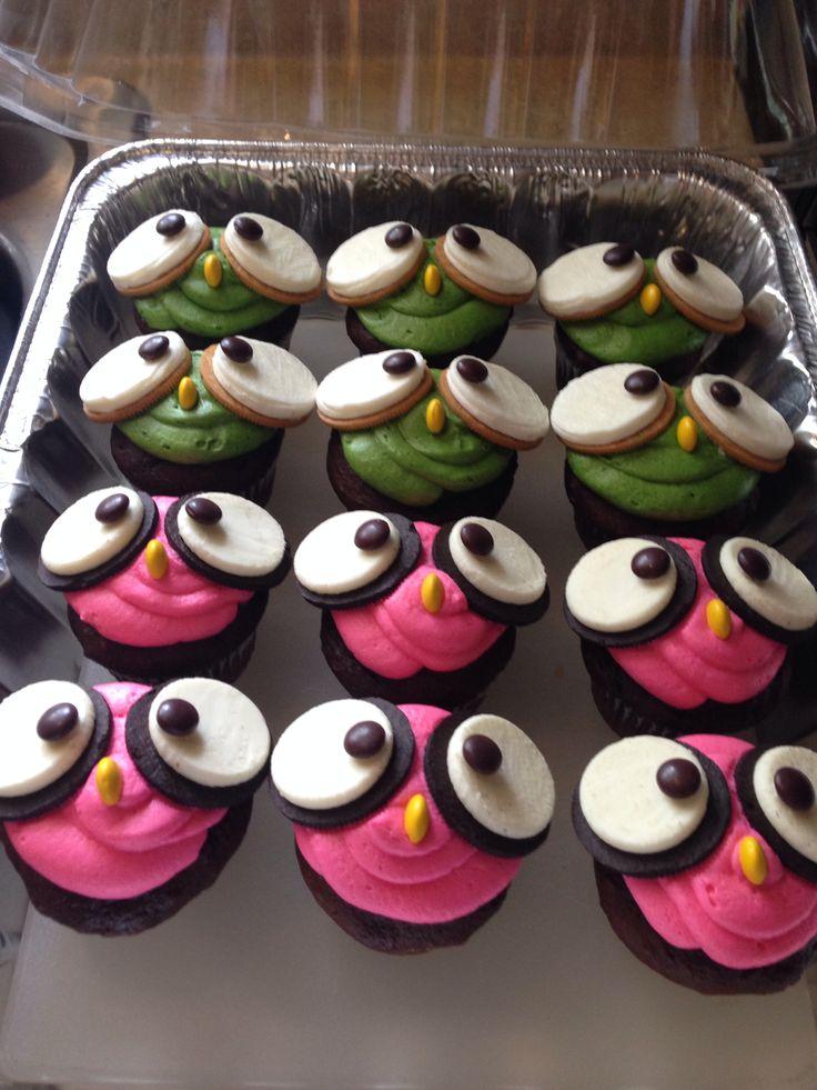 Owl cupcakes to go with the Owl Smash cake! @Alicia Allie