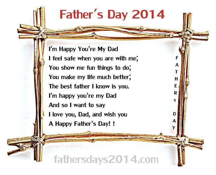I M Happy You Are My Dad I Feel Safe When You Re With Me