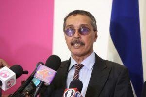 Jatri Aduh, presidente C. N. Saharaui, participa en la ceremonia de investidura del presidente de Nicaragua