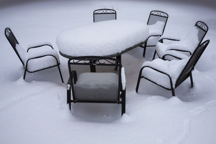 3 Ways to Protect Your Outdoor Patio Furniture in Winter~~  1. Place it in Storage:  This is the best way to protect your outdoor furniture from the elements during the winter and keep it from rusting, rotting, or falling apart. Most people simply move their furniture into a free space like a shed, the garage, the attic, or the basement (depending on accessibility). ~~2. Use Covers or Storage Bags:  You can also find a variety of waterproof outdoor furniture covers and bags meant to protect…