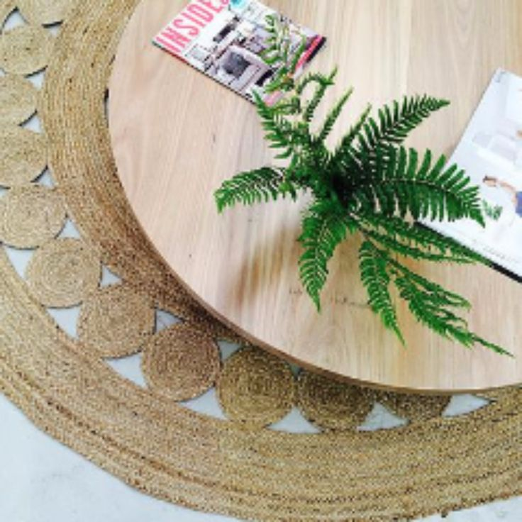 Add some style and texture to any room with this stunning natural Jute Rug. Use the texture of the rug to define the space and then apply soft materials such as cushions. Made from 100% natural jute
