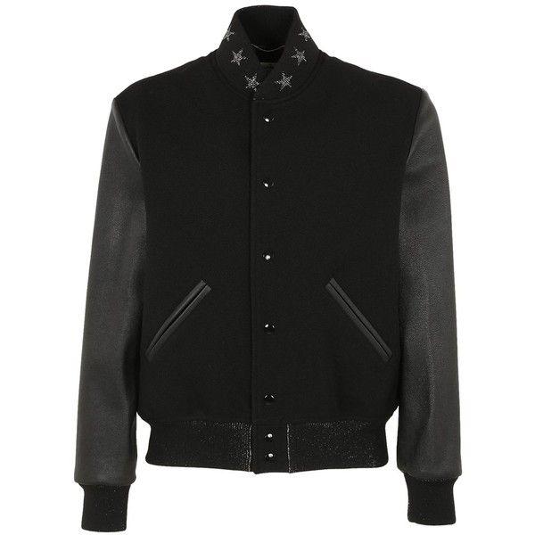 Saint Laurent Saint Laurent Men's Black Wool Outerwear Jacket |... ($1,999) ❤ liked on Polyvore featuring men's fashion, men's clothing, men's outerwear, men's jackets, black, mens jackets, mens wool outerwear and mens wool jacket