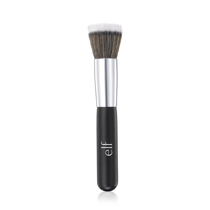 NEW: Stipple Brush. The ergonomically shaped handle provides expert control, while the two layers of hair apply soft layers of color for an airbrushed result. #elfcosmetics #playbeautifully