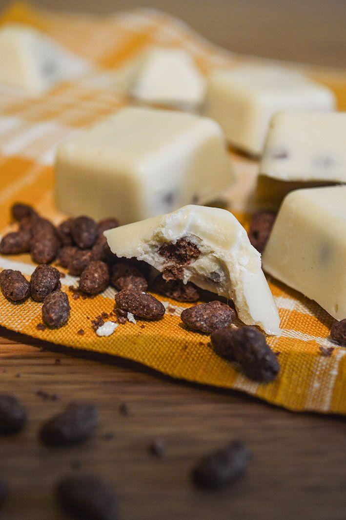 Chocolats blancs et riz soufflé {pour Noël} – Amandise   Les gourmandises d'Amandine