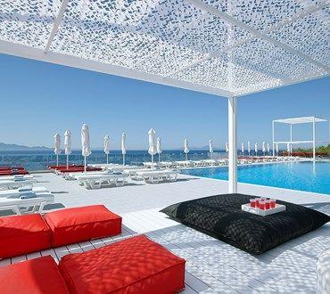 Dimitra Beach Hotel in Kos: modern beachfront resort kos, agios fokas accommodation, resort kos island, travel kos, holidays kos