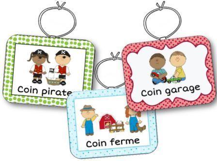 22 modèles de colliers à mettre en place dans les coins jeux en maternelle. Les colliers coins jeux sont présentés avec 3 cadres de couleurs différentes.