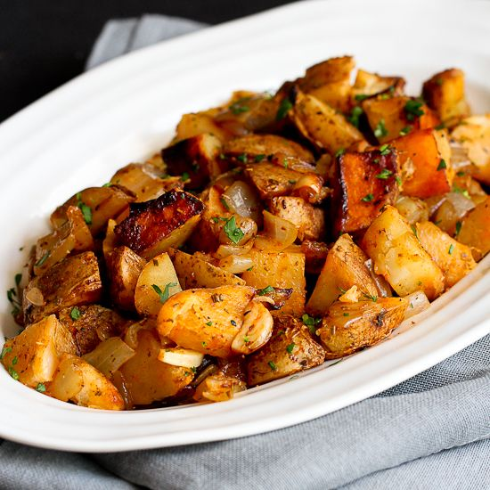 Grilled potatoes are golden brown and tender, and steeped in the flavors of grilled onions, garlic, rosemary and smoked paprika.