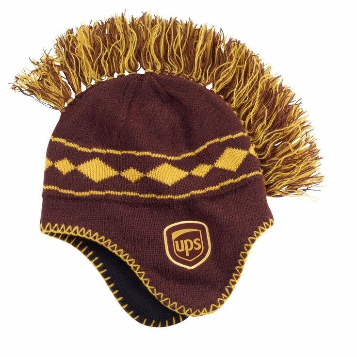 Youth MohawkJacquard Beanie UPS LOGO United Parcel Service Warm Fleece Lined Hat #UPS #Beanie