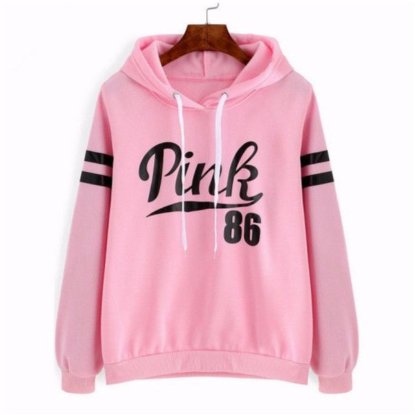 Women's Womens Long Sleeve Hoodie Sweatshirt Pullover Tops Jumper Coat ($8.99) ❤ liked on Polyvore featuring tops, hoodies, pink, long sleeve hooded sweatshirt, pink top, hooded sweatshirt, sweater pullover and long sleeve pullover