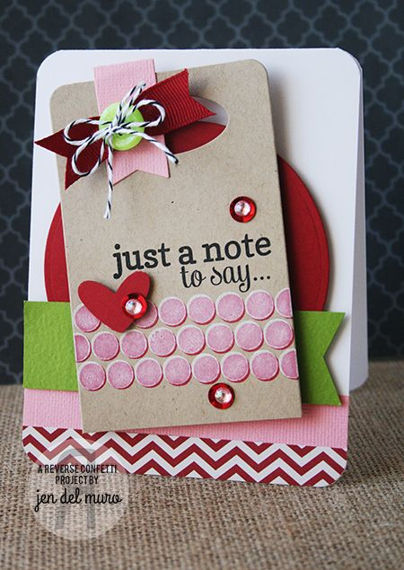 Reverse Confetti   Whole Lotta Dots, Lots to Say [Just Because, Thinking of You Card]