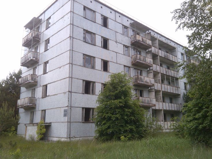 Abandoned apartment complex in Pripyat