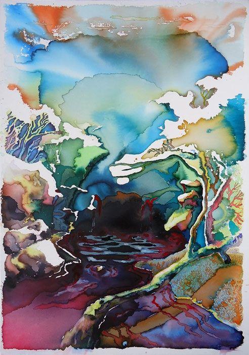 Questo è un buon rifugio - eccoli e and Ink on canvas - cm 100 x 70