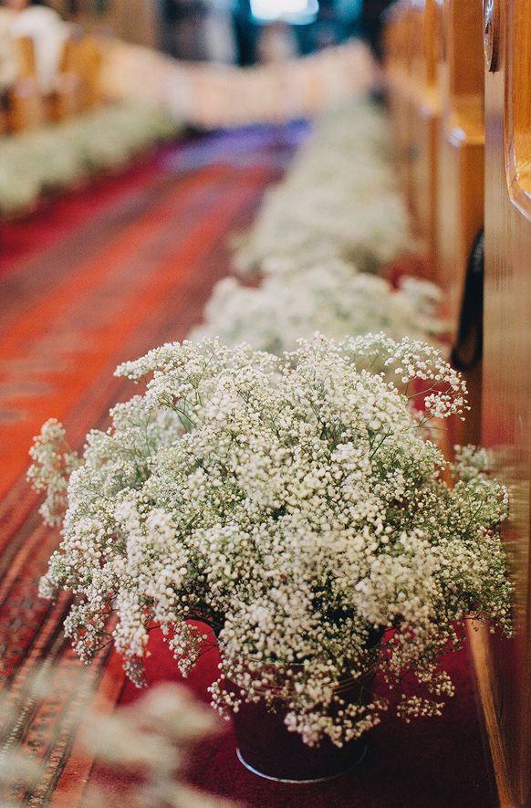 Baby Breath Wedding Decorations church   Tag Archives: Baby's breath church pew aisle decorations