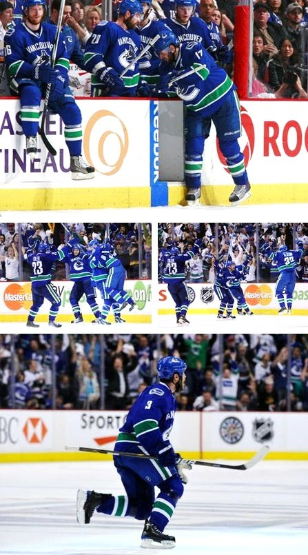 Remember when ryan kesler left the game, because he was hurt, but he came back and scored the game tying goal with 14 seconds left, which led to kevin bieksa scoring the game winning goal in double OT? #canucks