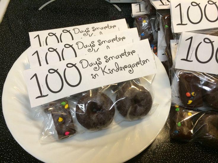 100th day of school snack. Treat for kindergarten class.