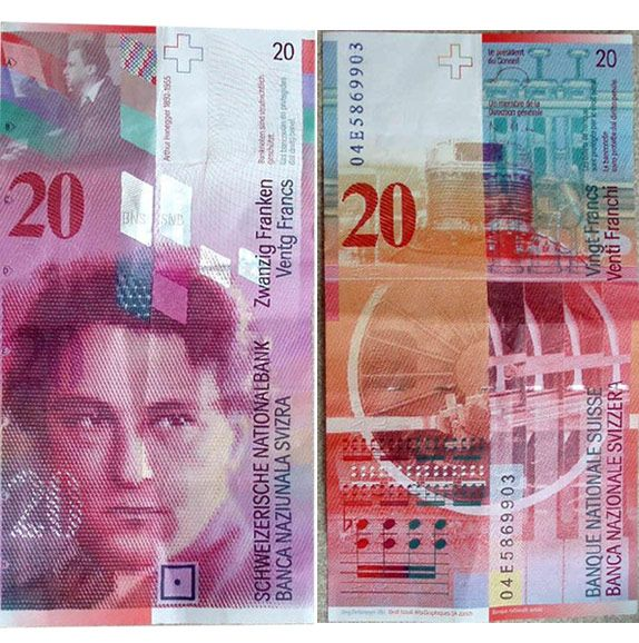 The segmentation using white overlays at different opacities creates visual interest in these bank notes