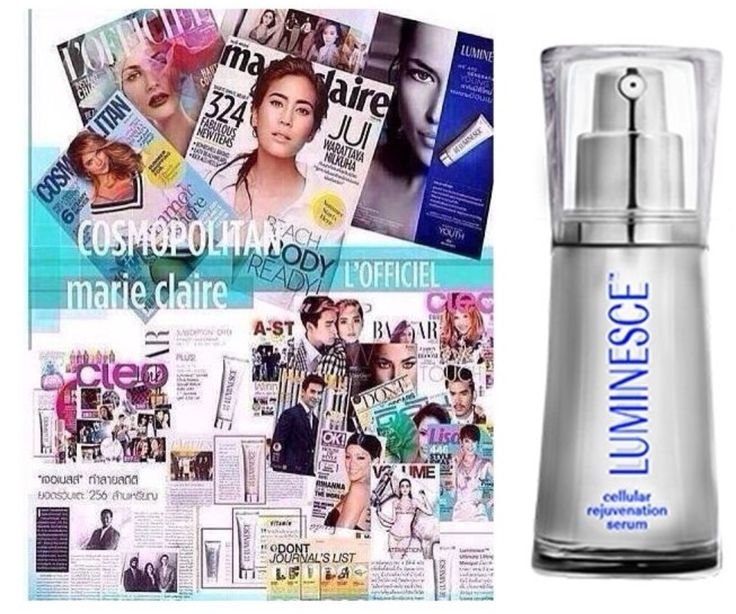 LUMINESCE featured in so many magazines