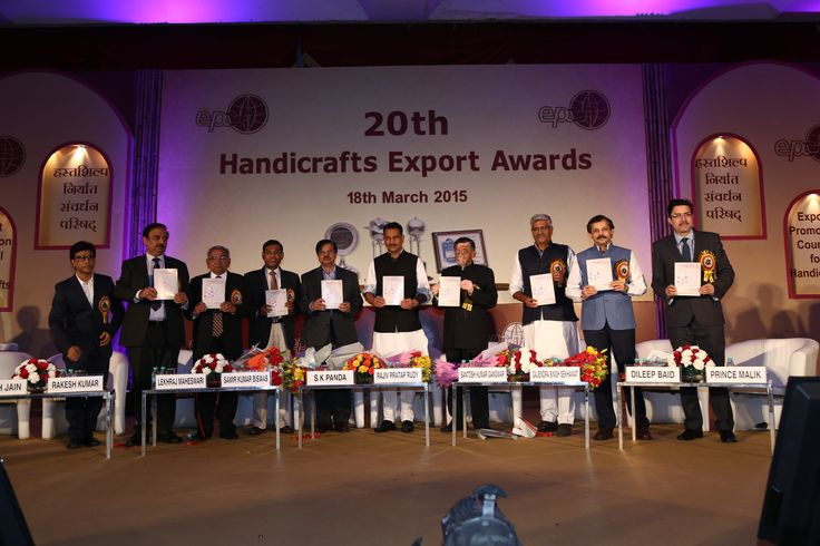 Handicrafts & Carpet Sector Skill Council launched by Hon'ble Minister of State Skill Development and Entrepreneurship, Shri. Rajiv Pratap Rudy along with Shri. SK Gangwar, Hon'ble Union Minister State for Textiles & other dignitaries on the occasion of 20th Handicrafts Export Awards — at The Ashok Hotel, New Delhi