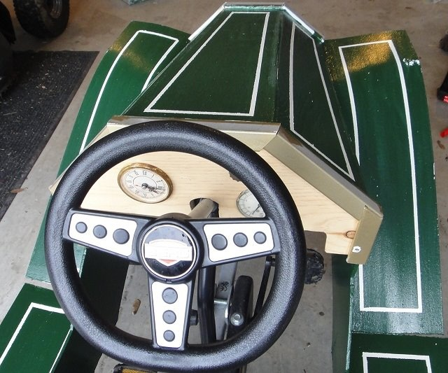 Sweet custom dashboard for BERG pedal car.   Custom ...