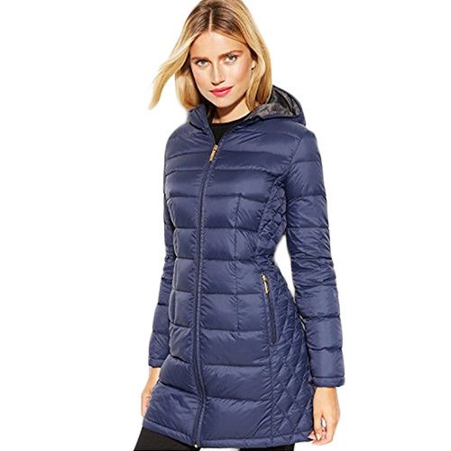 Michael Michael Kors Gray Packable Puffer Coat