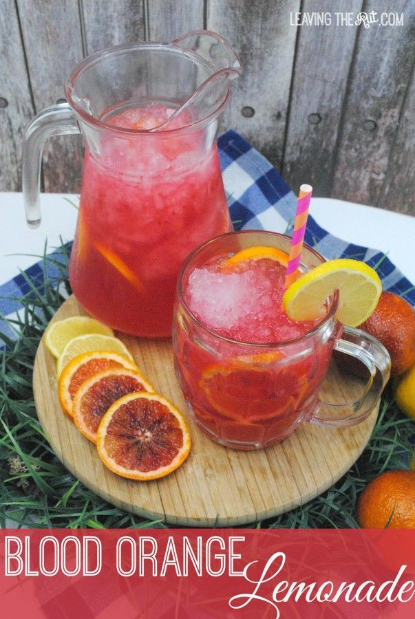 Blood Orange Lemonade | Mix up a batch of this refreshing lemonade for for first BBQ this season!