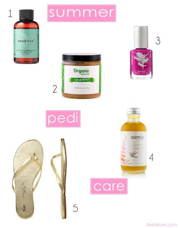 the perfect summer pedi | life in blush