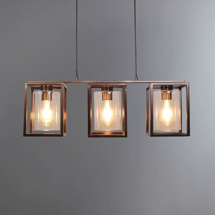 London Bronze 3 Light Fitting | Dunelm