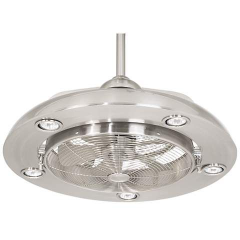 "Possini Euro Segue 24""-W Brushed Nickel 5-Light Ceiling Fan - #N4214 