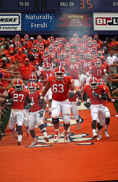 Clemson football entrance. Best in college football..