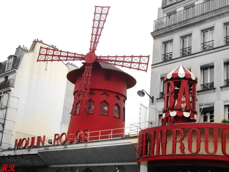Moulin Rouge, is a cabaret in Paris, France. built in 1889 by Joseph Oller. in the Paris district of Pigalle on Boulevard de Clichy in the 18th arrondissement, it is marked by the red windmill on its roof. Well known as the spiritual birthplace of the modern form of the can-can dance, Today its a tourist attraction, offering musical dance entertainment for visitors from around the world.