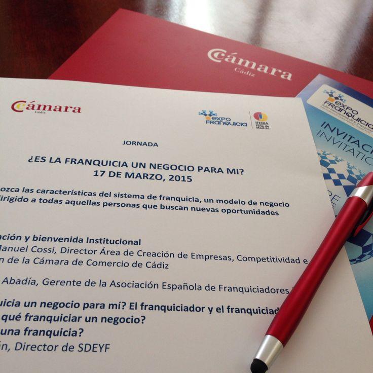 Hoy aprendemos sobre franquicias, en la Cámara de Comercio de Cádiz.  LOVE