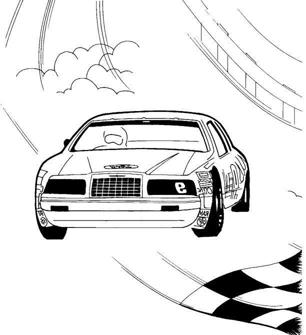 Thunderbird Race Car Coloring Page