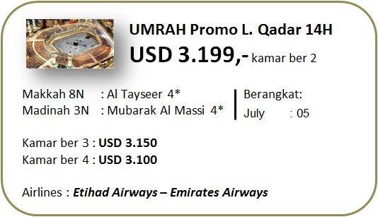 Jadwal Keberangkatan Umroh Ramadhan 2015  Seat yang masih tersedia:  Keberangkatan 2015:   22 Juni (Awal Ramadhon) 5 Juli (Lailatul Qadar) 15 Juli (Idul Fitri)