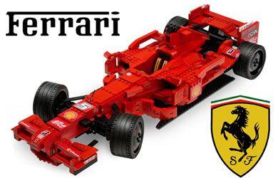 Lego Racers - Ferrari F1  The BIGGEST Ferrari F1 model EVER MADE with LEGO bricks!  http://www.comparestoreprices.co.uk/creative-toys/lego-racers--ferrari-f1.asp