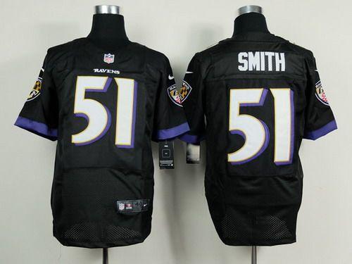 nike baltimore ravens 51 daryl smith 2013 black elite jersey