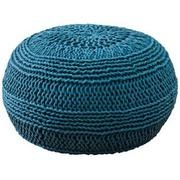 Teal Blue Roped Cotton Pouf...