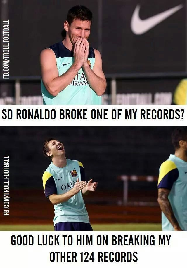And then Messi goes back and breaks it again. He even breaks his own records :3
