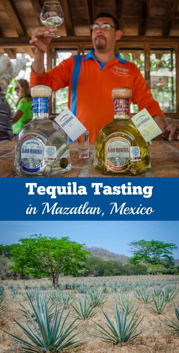 Sampling award-winning tequilas at Los Osuna Distillery in Mazatlan, Mexico.