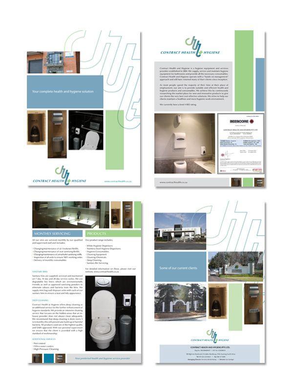 Contract Health & Hygiene Corporate Folder Design