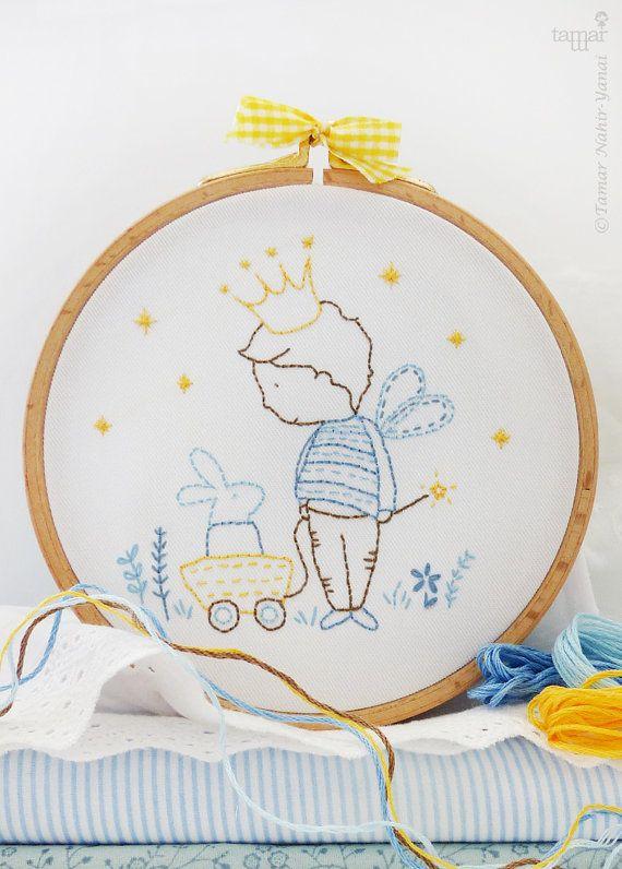 Prince embroidery Prince baby shower Baby boy by TamarNahirYanai