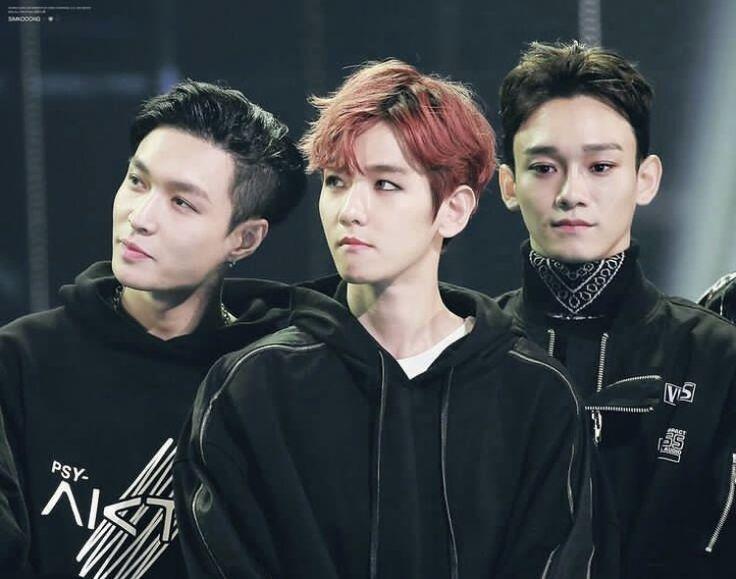 the trio that makes my heart swell #Lay #Baekhyun #Chen