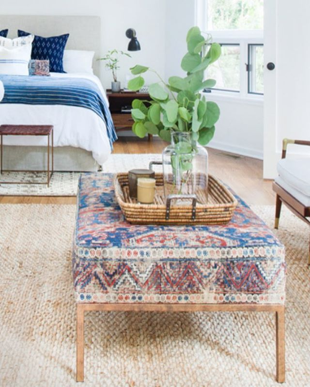 Best ottoman ever??? Maybe! Wellllll It's your lucky day, cause we can make these for one an all now. This beauty was a one of a kind rug I used for #drclientclients but we can make them with fabric of your choice OR source a vintage rug for ya! // Email shoppe@amberinteriordesign.com  for all the deets and pricing //